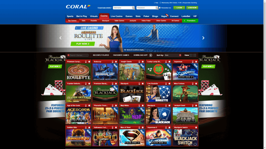coral casino bonus terms and conditions
